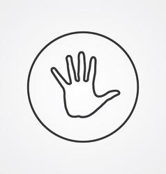 arm outline symbol dark on white background logo vector image vector image