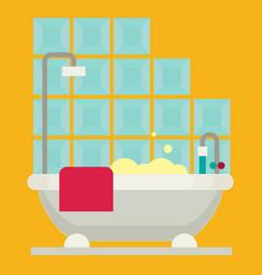 Bath flat vector
