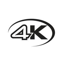black 4k icon vector image vector image