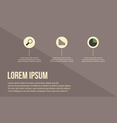 Busines infographic with brown background vector