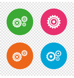 Cogwheel gear icons mechanism symbol vector