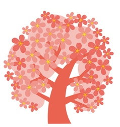 Concept decorative pink tree blossom vector