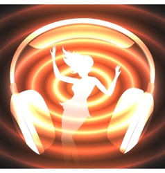 dancing music vector image