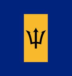 Flag barbados flat icon vector