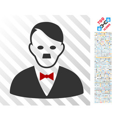 Hitler manager flat icon with bonus vector