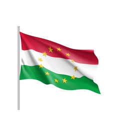 hungary national flag with a star circle of eu vector image