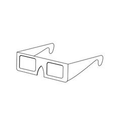 modern 3d cinema glasses entertainment eyesight vector image vector image