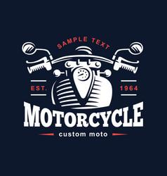 motorcycle logo vintage emblem vector image vector image