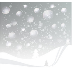 natural colored abstract winter landscape vector image vector image