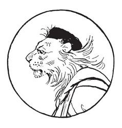 Reynard the fox king noble vintage vector