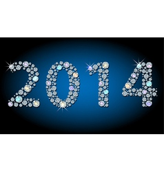 Shiny 2014 year-number vector image vector image