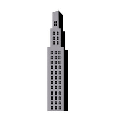 Silhouette monochrome with building skyscraper vector