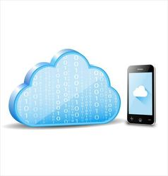 Smartphone cloud computing vector image vector image