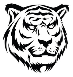 Tiger face tattoo vintage engraving vector