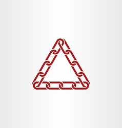 triangle link chain icon vector image