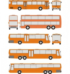 vehicle bus shapes vector image vector image