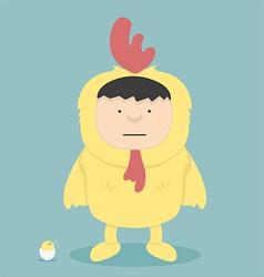 wear coat chicken vector image