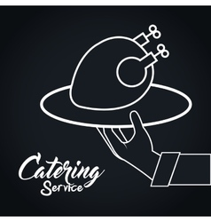 Icon catering service food design vector