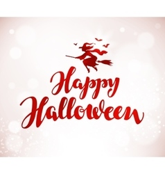 Happy halloween banner beautiful handwritten vector