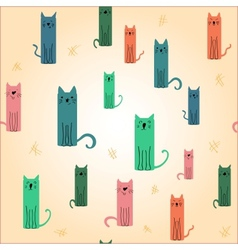 Cute colored cat vector