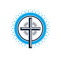 Christian cross true belief religion symbol vector