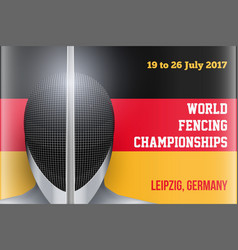 Fencing event poster vector