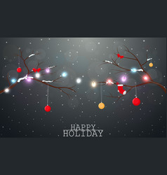 Christmas background with light and decoration vector