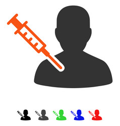 Patient vaccination flat icon vector