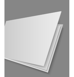 Open books page on gray background vector