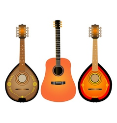 Guitar and two mandalina vector
