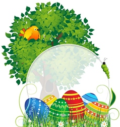 Easter natural background vector
