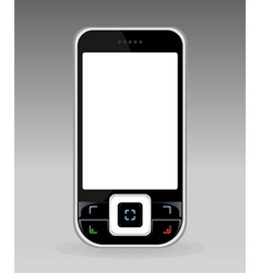 Black cellular telephone with the white screen a v vector