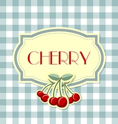 Retro cherry label vector