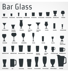 Bar glass icon vector