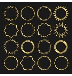 Golden label set vector image