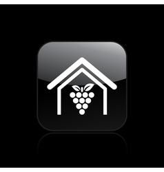 wine farm icon vector image
