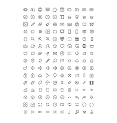 150 thin line icons vector