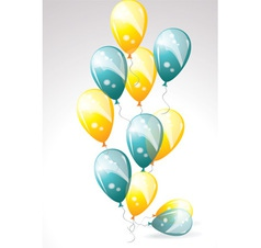 Ballons yellow and blue vector