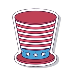 Patriotic isolated icon design vector