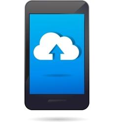 Cloud app icon vector
