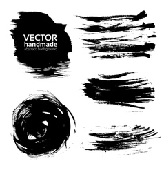 abstract brush strokes paint vector image vector image