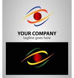 Abstract eye future vision logo vector