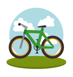 bicycle vehicle transport icon vector image