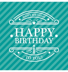 Blue birthday greeting card vector