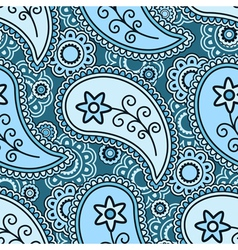 Blue paisley pattern vector image