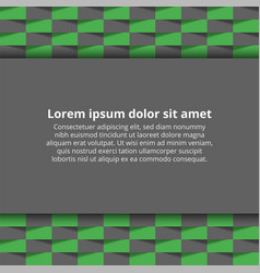 card with abstract background vector image