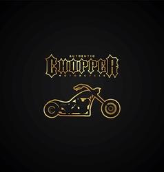 Chopper motorcycle logotype vector