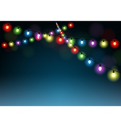 Christmas Lights Background vector image