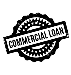 Commercial loan rubber stamp vector