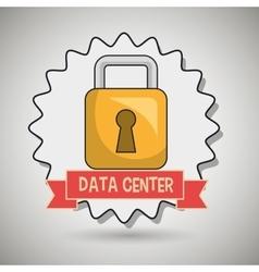 data center padlock icon vector image